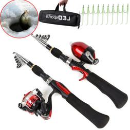 1.4 M Telescopic Fishing Rod Combo Ice Rods & Closed Fishing