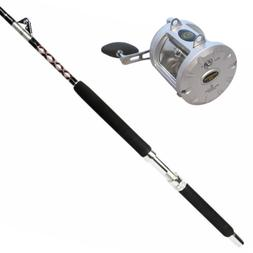 100lb Solid Fishing Roller Boat Rod & Conventional Reel| Coa