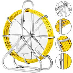 130M/425ft Fish Tape 6mm Fiberglass Wire Cable Running Rod D