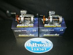 2 PACK OKUMA COLD WATER CW-203D LINE COUNTER LEVEL WIND STAR