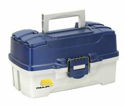 Plano 2-Tray Tackle Box with Dual Top Access, Blue Metallic/