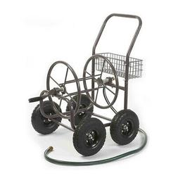 4-Wheel Hose Cart Pneumatic Tires Storage Reel Farm Commerci