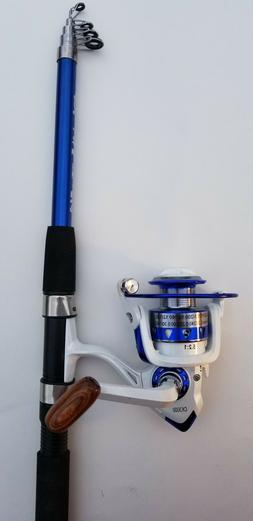 7ft.  Fishing Rod Combo -Telescopic Pole with Color Matching