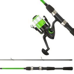 Beginner Open Face Spinning Rod and Reel 6 Ft Fiberglass Gre