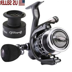Sougayilang Black Silver Heavy Action Spinning Fishing Reels