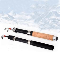 Carbon Winter Portable Ice Fishing Rods Reels Combo Pen Pole