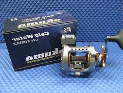 Okuma Cold Water Linecounter Reel, 2+1 Ball Bearings, 4.2:1,