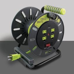 Masterplug Electrical Cord Storage Reel with 4 120V 10 amp o