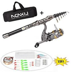 Fishing Rod And Reel Combo Spinning Fishing Reel Gear Organi