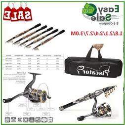 Fishing Rod and Reel Combos Full Kit Telescopic Fishing Pole