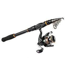 Goture Fishing Rod and Reel Combos, Carbon Fiber Telescopic