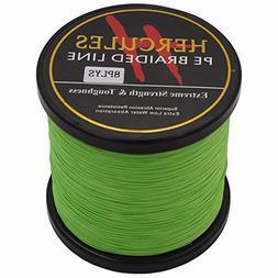 HERCULES 1000m 1094yds Fluorescent Green 10lbs-300lbs Pe Bra