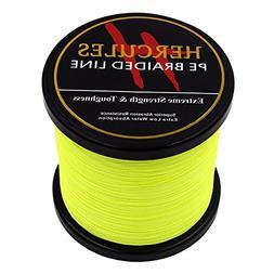 HERCULES 1000m 1094yds Fluorescent Yellow 6lbs-100lbs Pe Bra