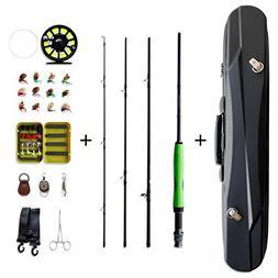 NetAngler Fly Fishing Rod and Reel Kit, 4-Piece 7'6 Rod 5/