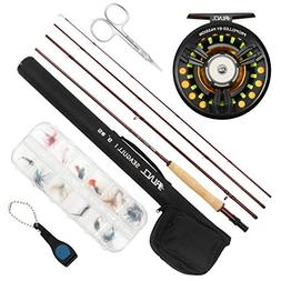 RUNCL Fly Fishing Rod & Reel Combo Seagull I, Complete Fly F