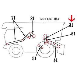 H125565 New Header & Reel Pump Belt For John Deere Combine 9