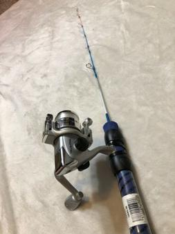 "Ice Blues/Intrigue 24"" Ultra-Light Ice Fishing Rod and Ree"