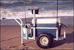 Fish-N-Mate Jr. 105 Beach Fishing Cart 5-Rod Holder