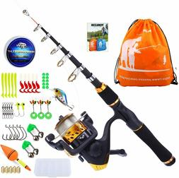 YONGZHI Kids Fishing Pole with Spinning Reels,Telescopic Fis