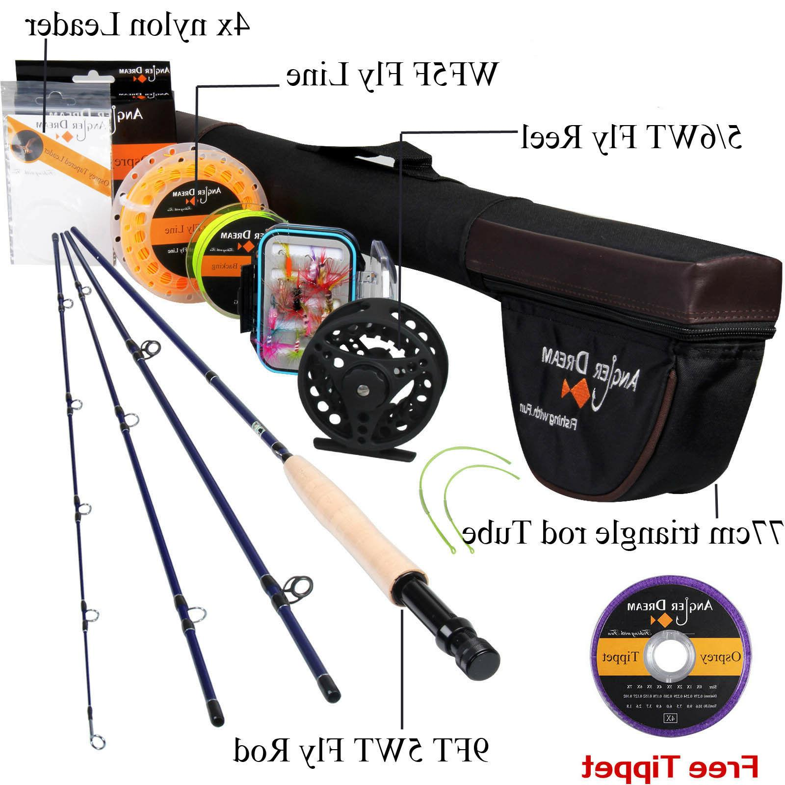 3/5/8WT Fly Fishing Combo Carbon Fiber Fly Rod With  Fly Lin
