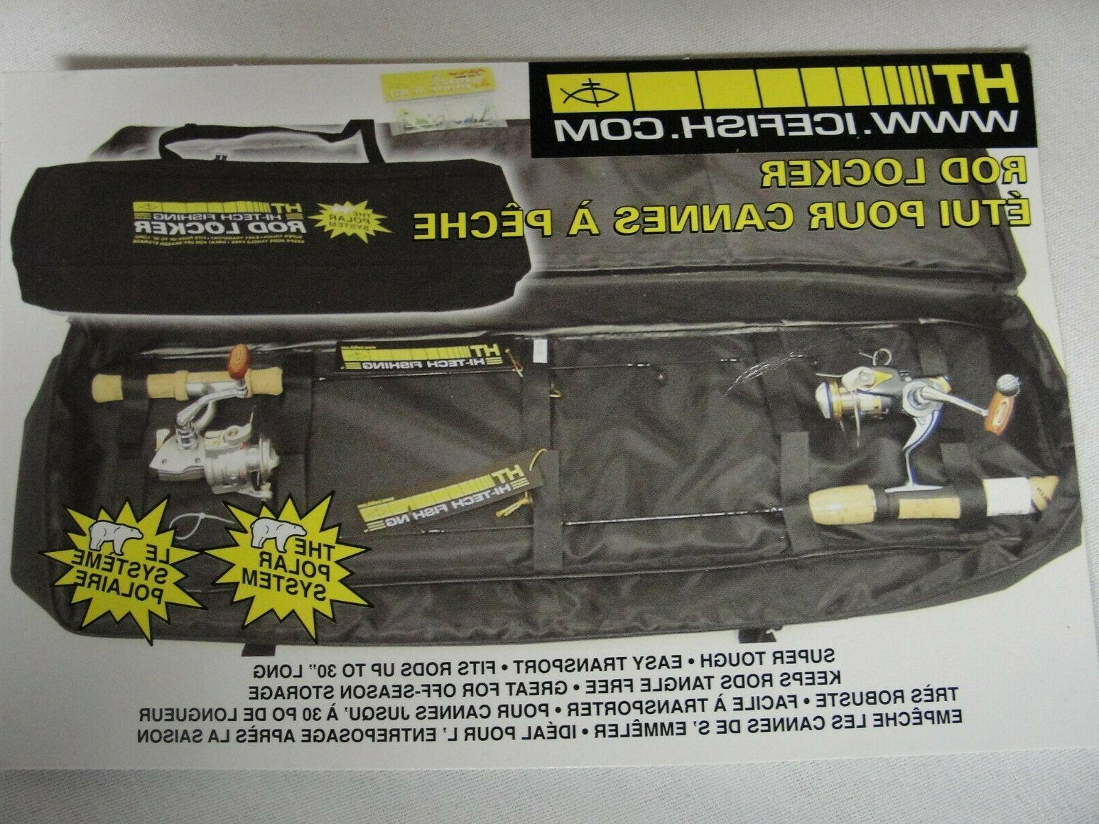 A Rod Locker Rod & Reel Carry Case Holds 2 Ice Rod & Reel Co