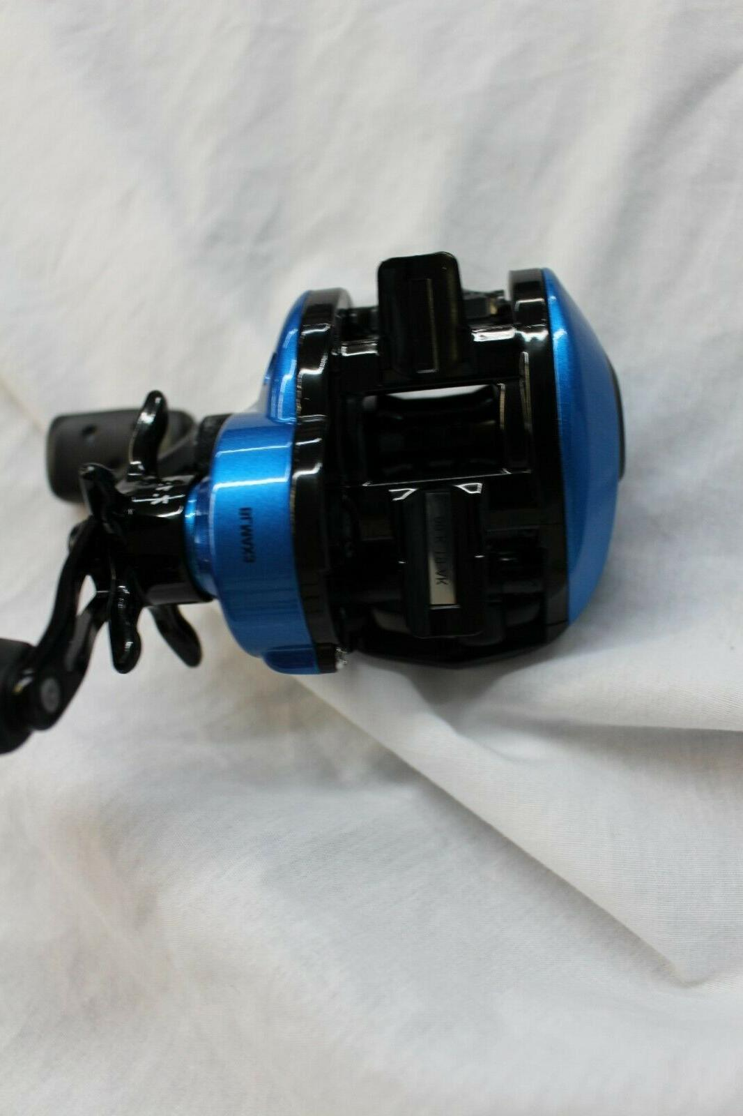 ABU GARCIA BLUE LOW PROFILE RIGHT-HANDED BAITCASTING REEL- BLMAX3