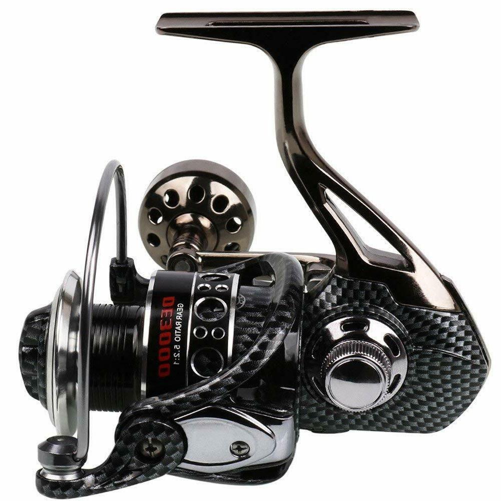 Sougayilang Fishing Reel 12+1BB Light Smooth Metal Spinning