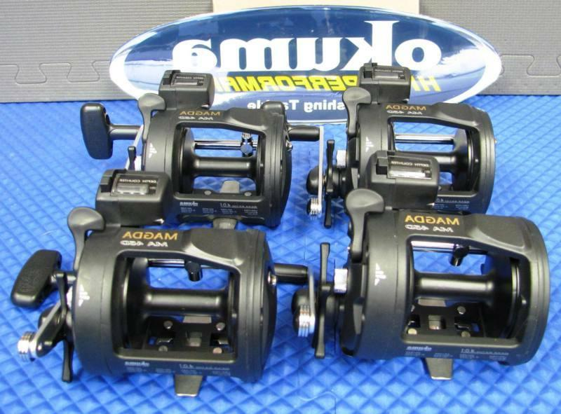 Okuma Magda Line Counter Trolling Reel with Star Drag  MA 45