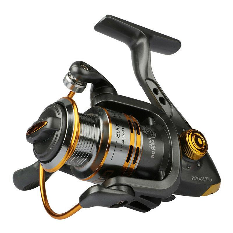 Goture Spinning Fishing Reel Metal Spool Coil 6BB For Freshw