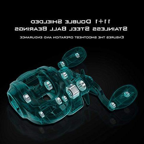 KastKing Royale Legend Reels - Elite Series, Palm Ergo-Twist Swing Side Gear 11+1 Magnetic System Reel
