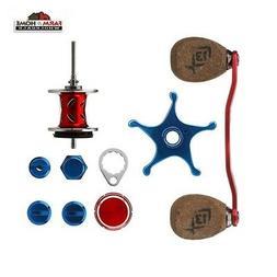 13 Fishing Patriot Reel Kit, Red/Silver/Blue