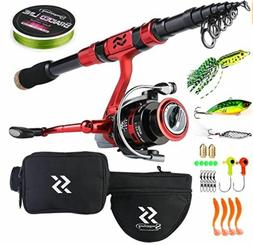 Portable Telescopic Fishing Rod Reel Combos Carbon Fiber Spi