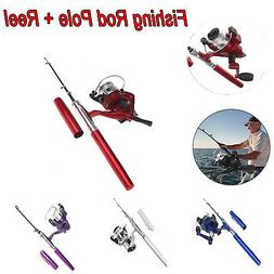 Protable Telescopic Spinning Fishing Pole Rod And Reel Combo