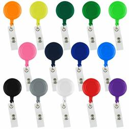 Assorted Color Retractable Badge Reels ID Key Card Name Tag