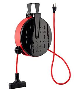 CopperPeak 30 ft Retractable Extension Cord Reel - Ceiling o
