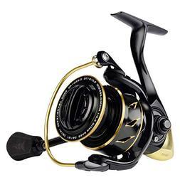 KastKing Sharky III Gold Fishing Reel, Zero-Flex Aluminum Bo