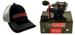 Quantum Smoke SL101XPTA 8.1:1 Left Hand Baitcast Reel + Hat