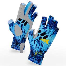 KastKing Sol Armis Fingerless Fishing Gloves - SPF 50 Sun Gl