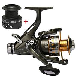 Goture Spinning Fishing Reel 5.1:1 Dual Brake Feeder 9+1BB C