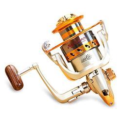 X-CAT Golden Spinning Fishing Reel,12 Ball Bearings Ultralig