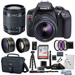 Canon T6 EOS Rebel DSLR Camera w/ EF-S 18-55mm IS II Lens &