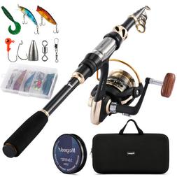 Magreel Telescopic Fishing Rod and Reel Combo Set for Saltwa