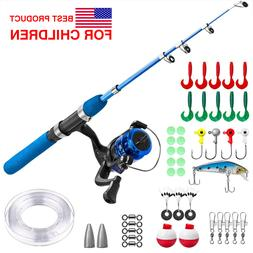 Telescopic Fishing Rod and Reel Combos for Youth Fishing,Kid