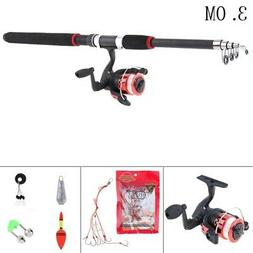 Telescopic Spinning Fishing Rod and Reel Combos Full Kit Fis