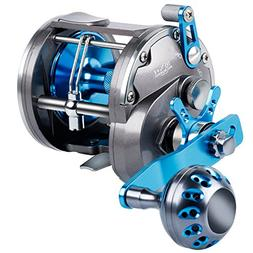 Burning Shark Trolling Reel Saltwater Level Wind Reels, Drag