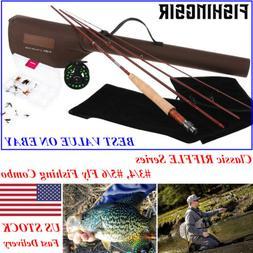 FISHINGSIR RIFFLE Fly Fishing Rod Reel Combo 3/4 5/6WT Graph