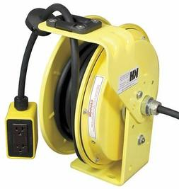 Kh Industries Yellow Retractable Cord Reel, 15 Max. Amps, Co